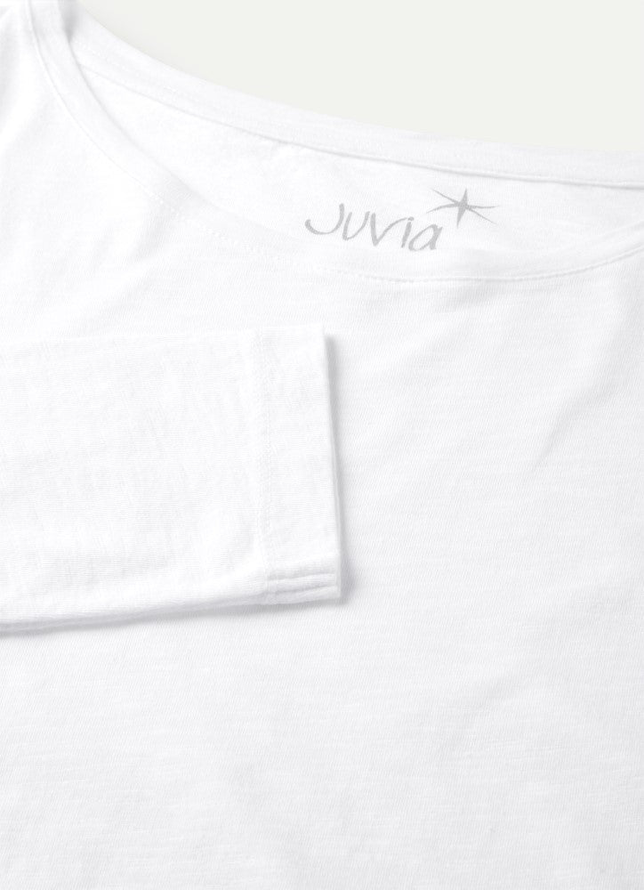 Juvia Crew Neck Long  Sleeve Tee J81511118