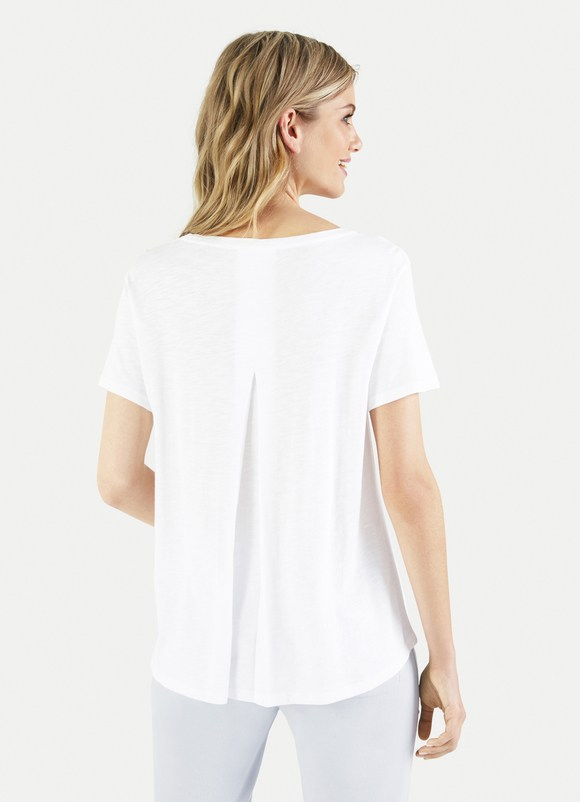 Juvia Crew Neck Tee Back Pleat J81011108