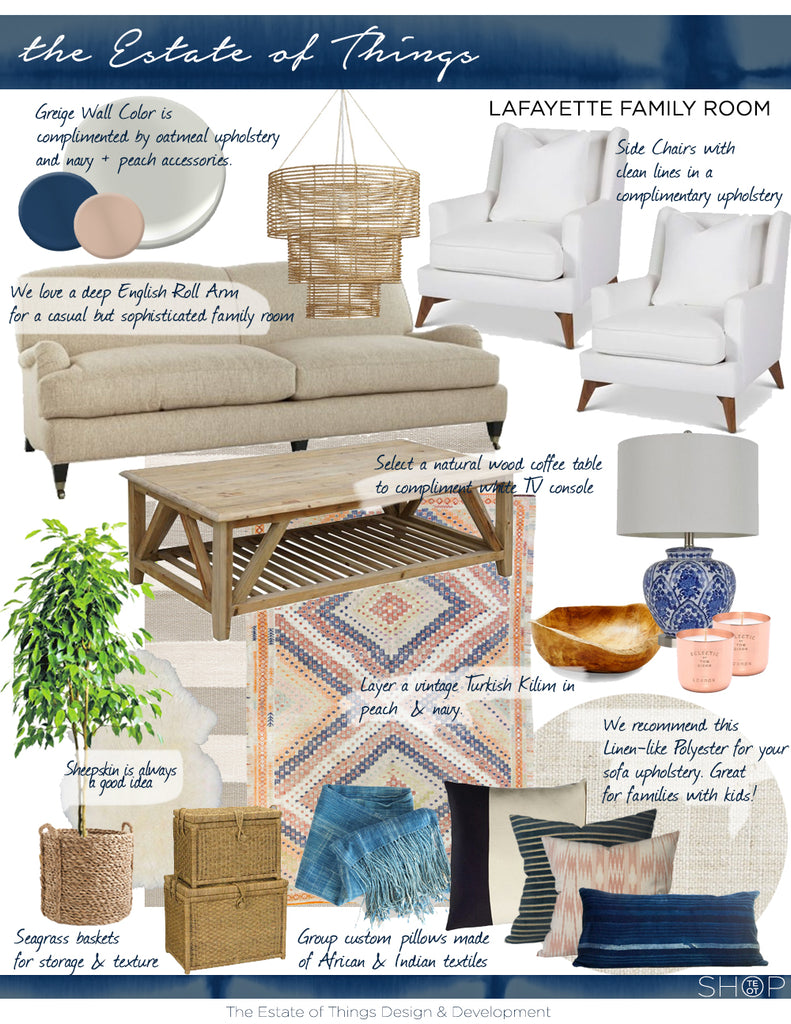 Lafayette Family Room: The Decor