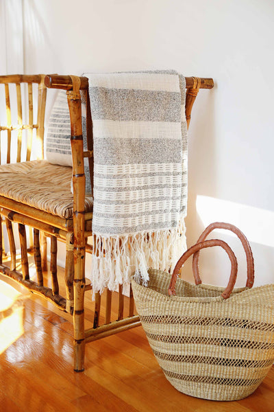 Rattan & Wicker Bench | CARRIE