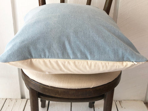 Vintage Chambray Pillow | LIGHT 18x18