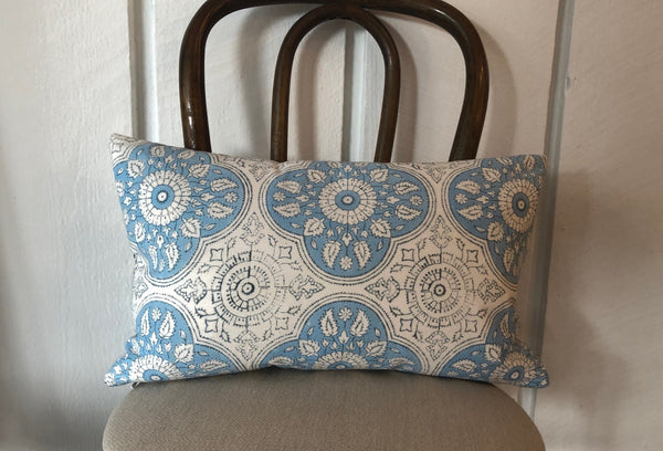 Indian Block Print Lumbar Pillow Cover | LUCILLE 12x20