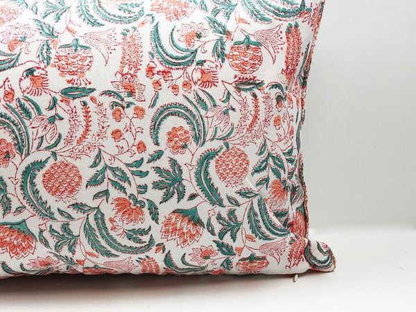Indian Block Print Pillow | OLIVIA 12x20