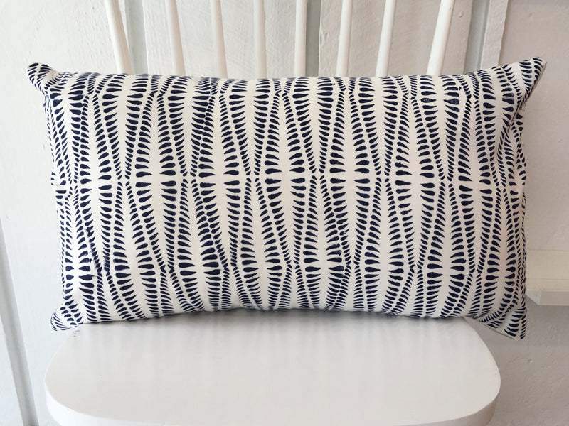 Indian Block Print Lumbar Pillow Cover| Fern 14x24