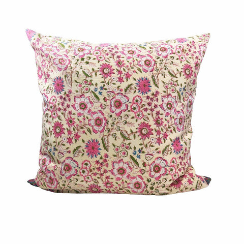 Indian Block Print Pillow| JACKIE 26""