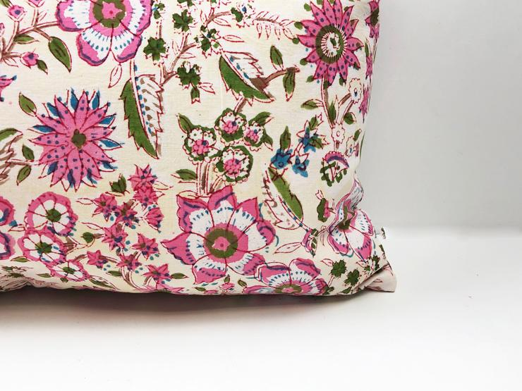 Indian Block Print Pillow Cover | JACKIE 12X20