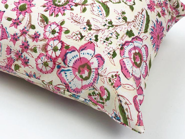 Indian Block Print Pillow | JACKIE 12X20