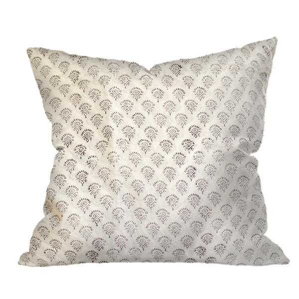 Indian Block Print Pillow | MARJORIE 22x22