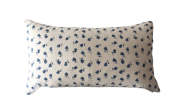 Indian Block Print Lumbar Pillow Cover | Emily 12x20