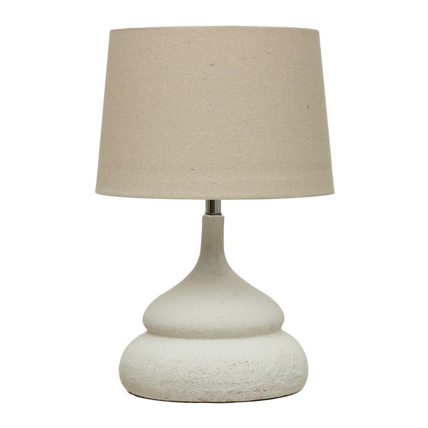 Modern White Terra Cotta Table Lamp | GLORIA
