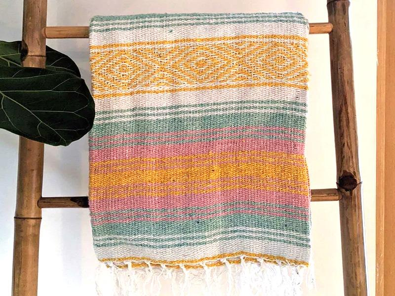 Pastel Mexican Falsa Beach Blanket | CECILY