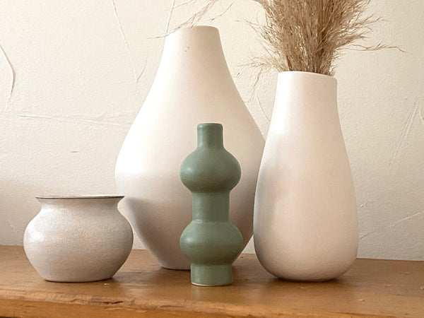 Mini Modern Green Stoneware Vase | TANDY