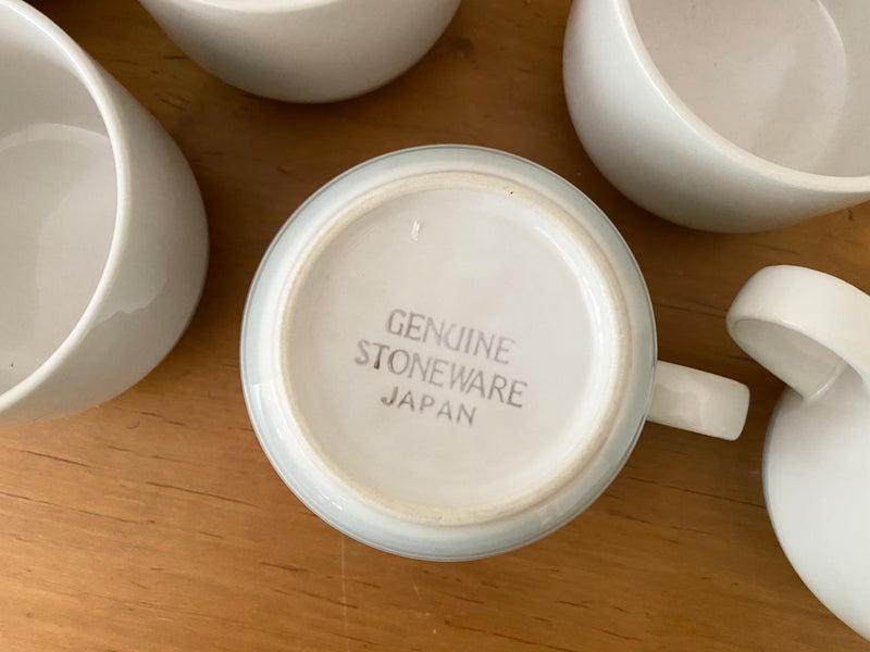 Vintage Japanese Stoneware Coffee Cups Set