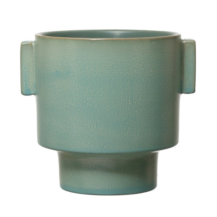 Green Ceramic Planter | JIMMY