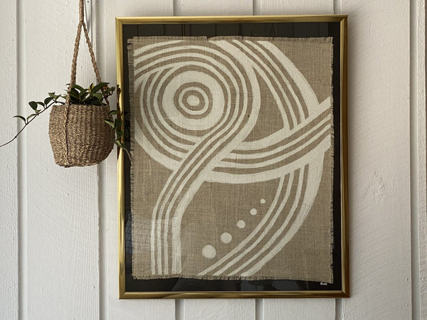 Original Framed Burlap Painting