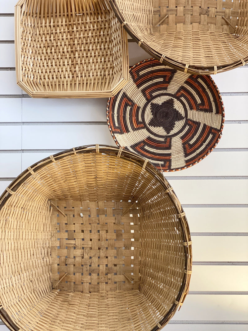 Natural Straw Square Basket | Doreen