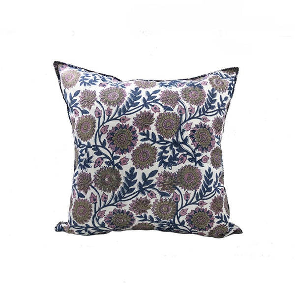 Indian Block Print Pillow | KENDRA 22x22