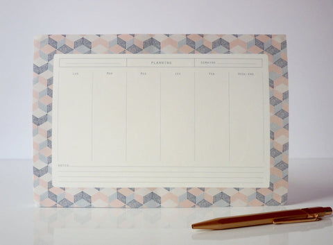 Weekly Planner Notepad | PATCHWORK