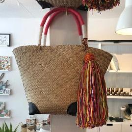 Straw Bag with Wrapped Handles | Coop