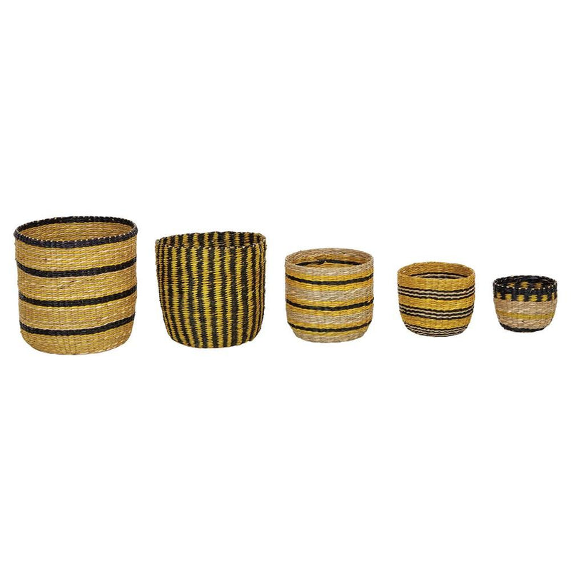 Yellow Stripe Baskets