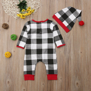 Plaid Onesie Outfit