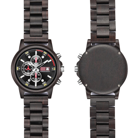 Black Dial Wooden Watch