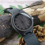 Love You Complete Me Leather Wooden Watch