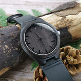 To My Fiancé I Love You Leather Wooden Watch
