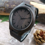 To My Dad My First Hero Leather Wooden Watch
