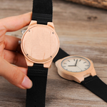 Leather Wooden Watch - Brown Dial