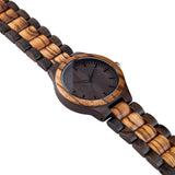 To My Son Win or Learn From Mom Black & Yellow Wooden Watch