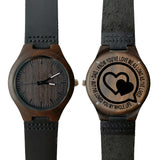 Dad My Whole Life Leather Wooden Watch