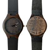 To My Son No Matter What Happens Love Mom Leather Wooden Watch