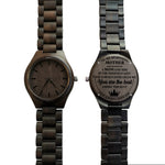 To My Beautiful Mother Love Always Your Son Black Wooden Watch
