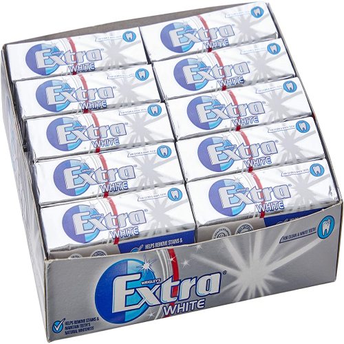 Extra White Chewing Gum Sugar Free 10 Pieces [30 packs]
