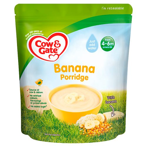 Cow & Gate Banana Porridge Baby Cereal 125g