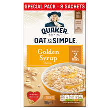 Load image into Gallery viewer, Quaker Oat So Simple Golden Syrup Porridge 8x36g
