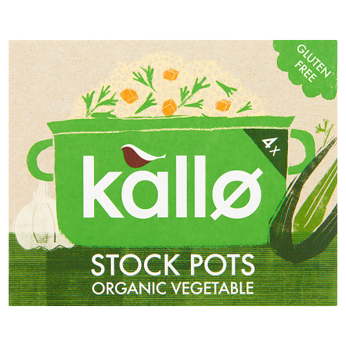 Kallo 4 Organic Vegetable Stock Pots 96g