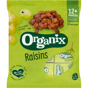 Organix Mini Organic Raisin Fruit Snack Boxes Multipack 168g