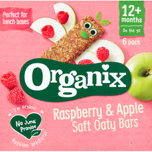 Load image into Gallery viewer, Organix Raspberry & Apple Organic Soft Oat Snack Bars Multipack 6 x 30g