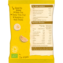 Load image into Gallery viewer, Organix Banana Organic Baby Finger Food Snack Rice Cakes 50g