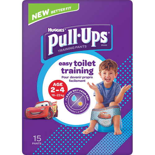 Huggies Pull Ups Day Time Potty Training Pants Boys 2-4 Years 15 Pants