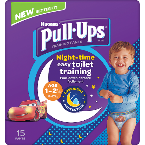Huggies Pull Ups Night Time Potty Training Pants Boys 1-2.5 Years 15 Pants