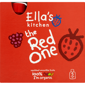 Ella's Kitchen Organic The Red One Multipack Pouch 6+ Months 5 x 90g