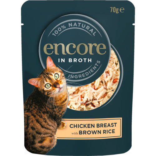 Encore in Broth Chicken Breast with Brown Rice 70g