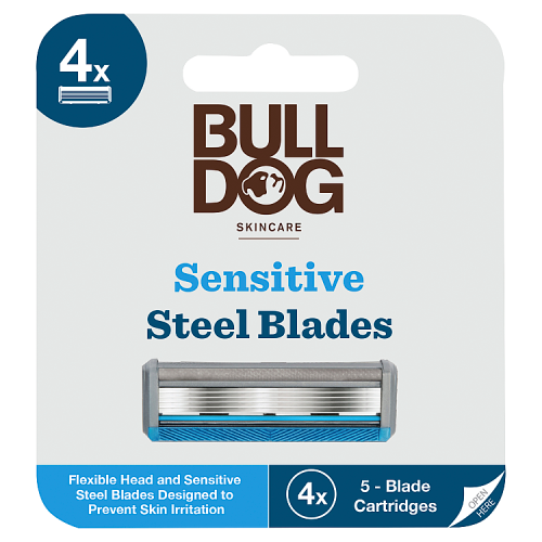 Bulldog Skincare 4 Sensitive Steel Blades