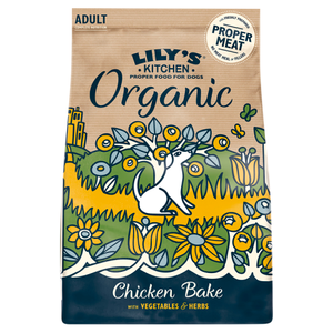 Lily's Kitchen Organic Chicken & Vegetable Bake Adult Dry Dog Food 1kg