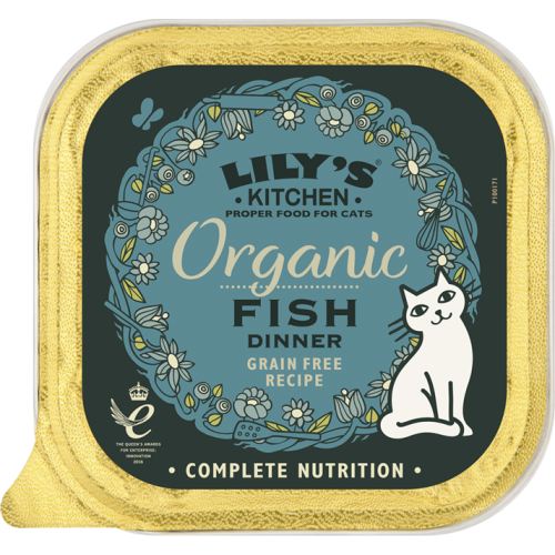 Lily's Kitchen Adult Organic Fish Wet Complete Cat Food 85g