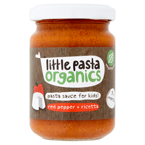 Little Pasta Organics Pasta Sauce for Kids! Red Pepper + Ricotta 9+ Months 130g