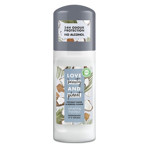 Love Beauty & Planet Coconut Water & Mimosa Flower Roll-On Deodorant 50ml